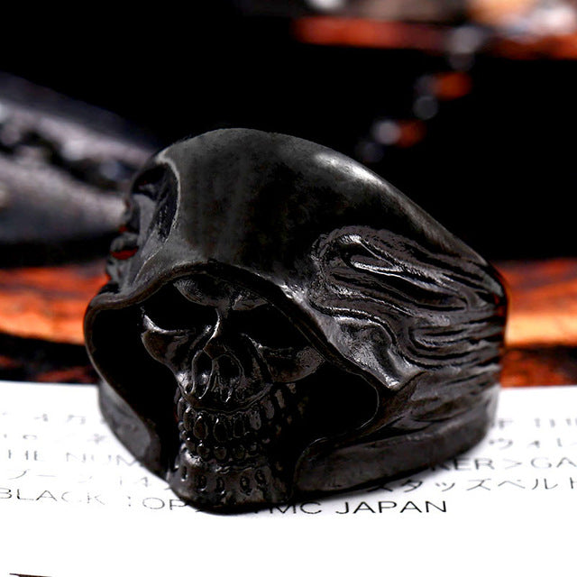 Mysterious Death Smile Ring 7 / black colour - Cradle Of Goth
