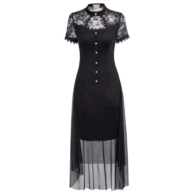 Elegant Temptress Dress Black / L - Cradle Of Goth
