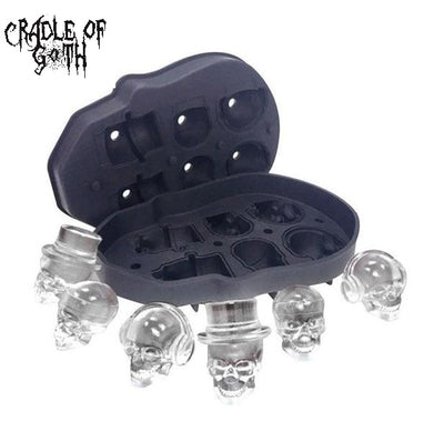 3D Skull Ice Cube Mold  - Cradle Of Goth