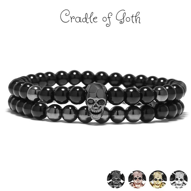 Death Charm Bracelet  - Cradle Of Goth