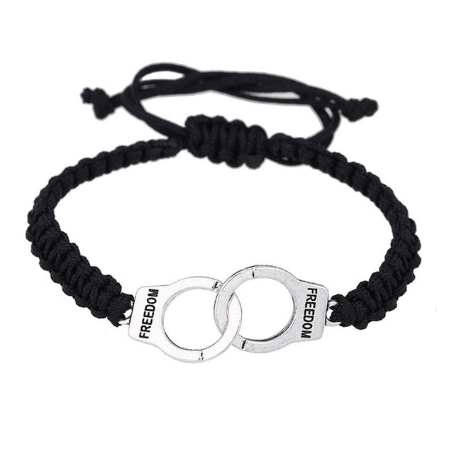 Handcuffs Bracelet Silver Plated - Cradle Of Goth
