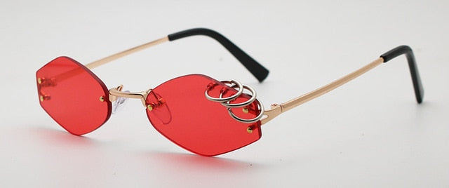 Iron Rings Sunglasses Red - Cradle Of Goth
