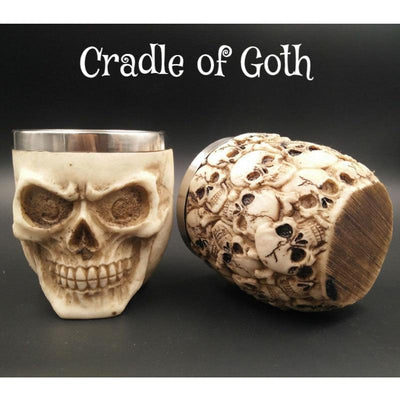 Smiling Skull Cup  - Cradle Of Goth