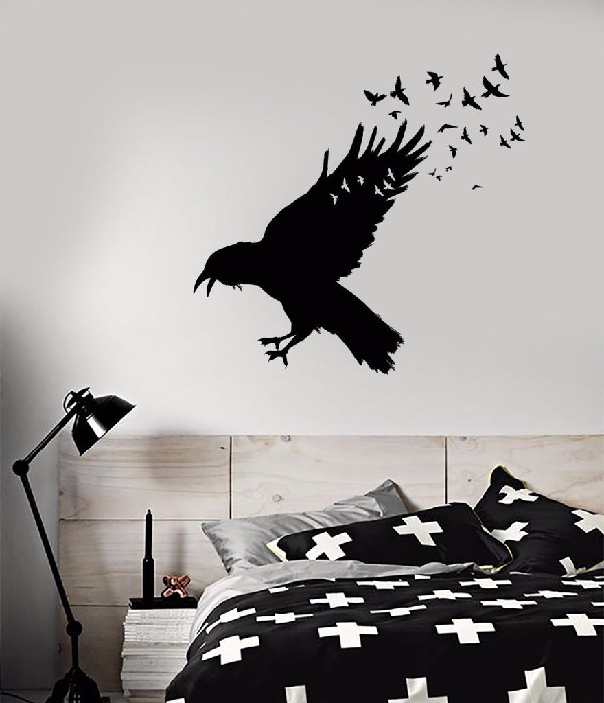 Deadly Flock Wall Sticker  - Cradle Of Goth