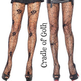 Skulls and Spiders Goth Fishnets  - Cradle Of Goth