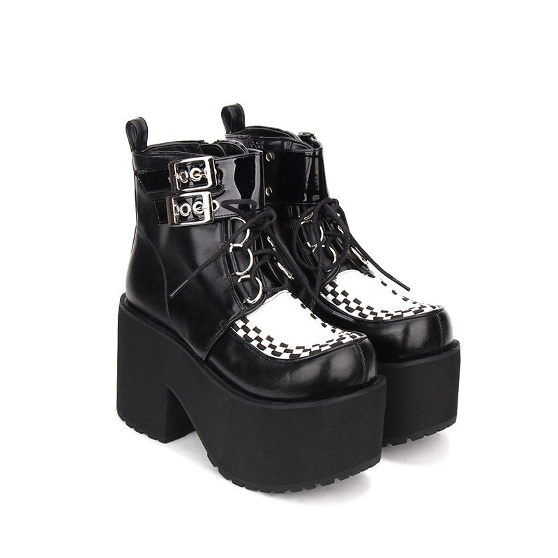 Demonic Queen Platform Boots (Vegan Leather)  - Cradle Of Goth
