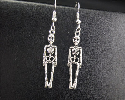 Handmade Skeleton Earrings  - Cradle Of Goth