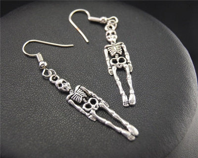 Handmade Skeleton Earrings E582 20X8mm 10x8mm - Cradle Of Goth