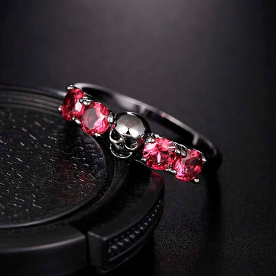 Flowery Death Ring 6 / anel feminino - Cradle Of Goth