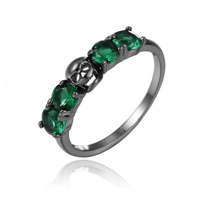 Flowery Death Ring 6 / sieraden - Cradle Of Goth
