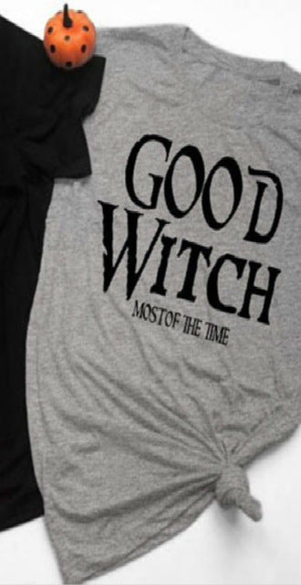 Bad Witch/Good Witch T-shirt Grey-Good Witch / XXL - Cradle Of Goth