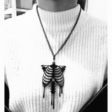 Skeleton Necklace  - Cradle Of Goth