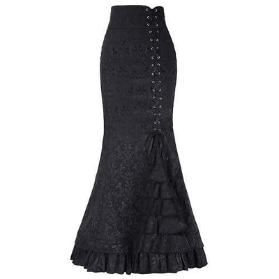 Victorian Mermaid Skirt  - Cradle Of Goth