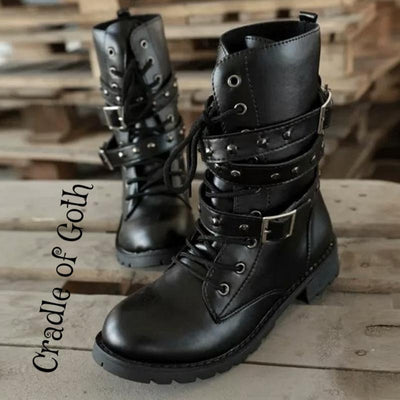 Badass Queen Boots (Vegan) Black / 11 - Cradle Of Goth