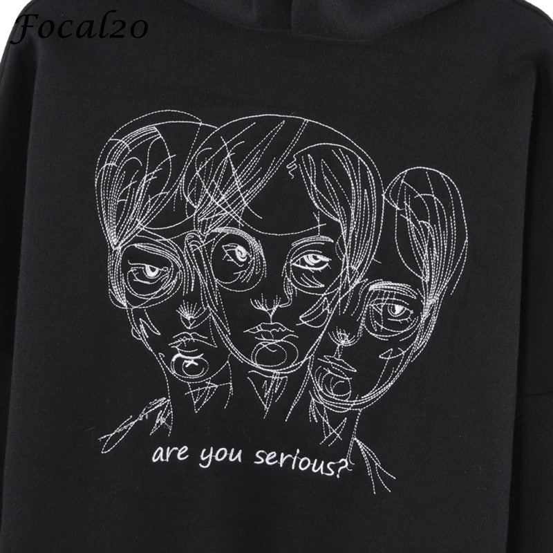 Are you serious? Goth Hoodie  - Cradle Of Goth