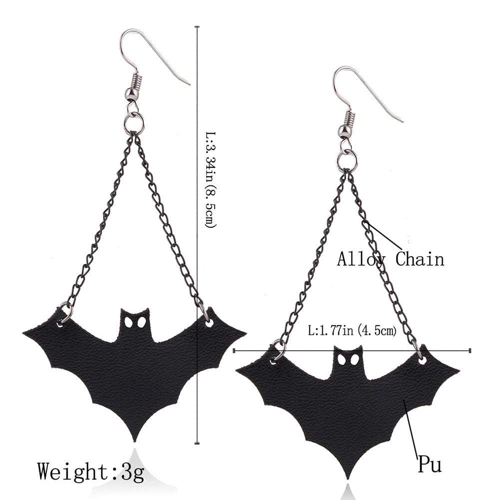 Haunting Bats Earrings  - Cradle Of Goth