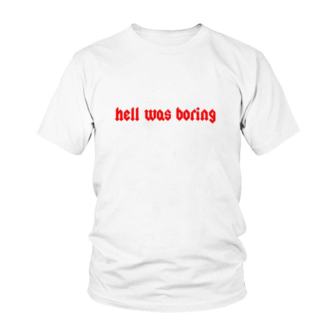 Hell Was Boring T-shirt  - Cradle Of Goth