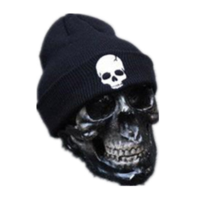 Skull Beanie Black - Cradle Of Goth