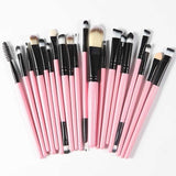 The Living Doll Brushes (20 pieces) Black and Pink - Cradle Of Goth