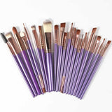 The Living Doll Brushes (20 pieces) Coffee and Purple - Cradle Of Goth