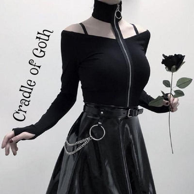 Slashed Cardigan  - Cradle Of Goth