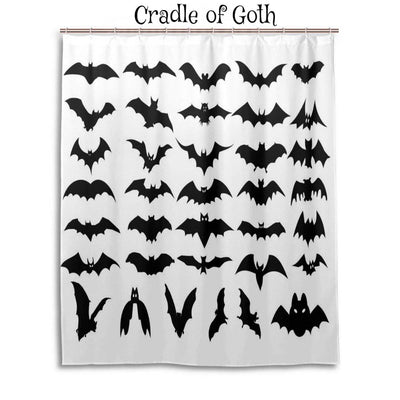 Bat Army Shower Curtain  - Cradle Of Goth