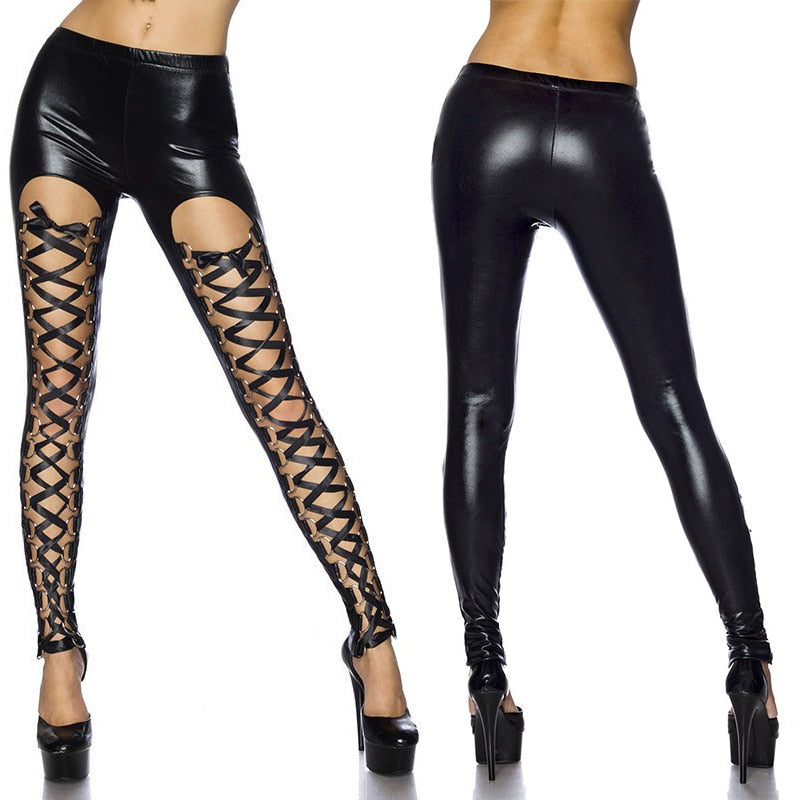 Laced Up Goth Pants  - Cradle Of Goth