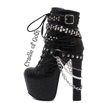 Enchained Goddess Boots  - Cradle Of Goth