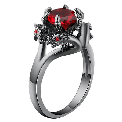 Dragons in Love Ring 10 / Red - Cradle Of Goth