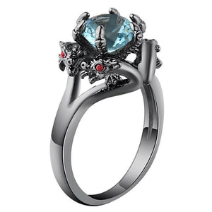Dragons in Love Ring 10 / Sky Blue - Cradle Of Goth