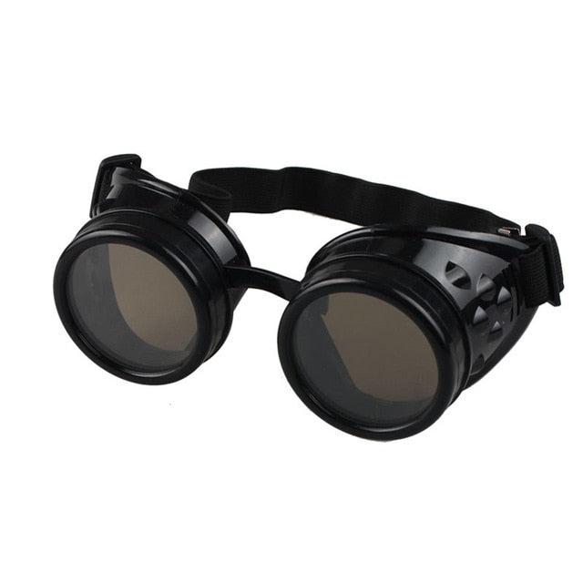 Steampunk Goggles Black - Cradle Of Goth