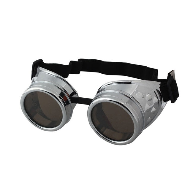 Steampunk Goggles Silver - Cradle Of Goth