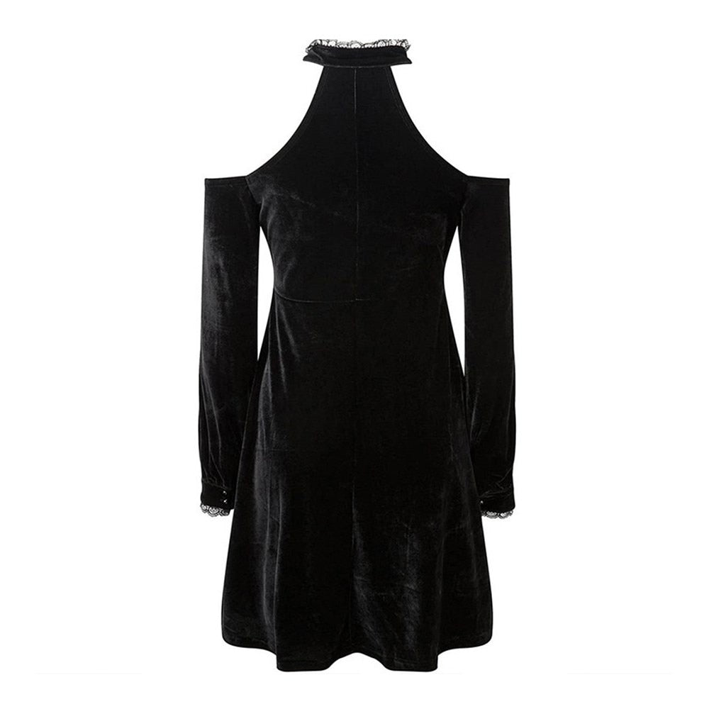 Halter Velvet Dress  - Cradle Of Goth