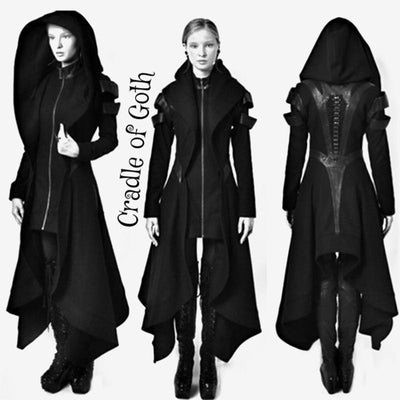 The Worshiper's Hooded Overcoat  - Cradle Of Goth