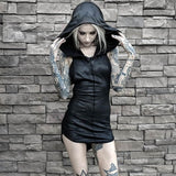 Little Goth Riding Hood Black / S - Cradle Of Goth