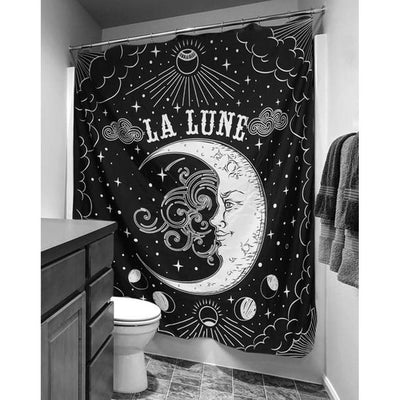 Tarot Moon Shower Curtain  - Cradle Of Goth