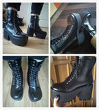 Satan's Doll Boots (Vegan, Handmade)  - Cradle Of Goth