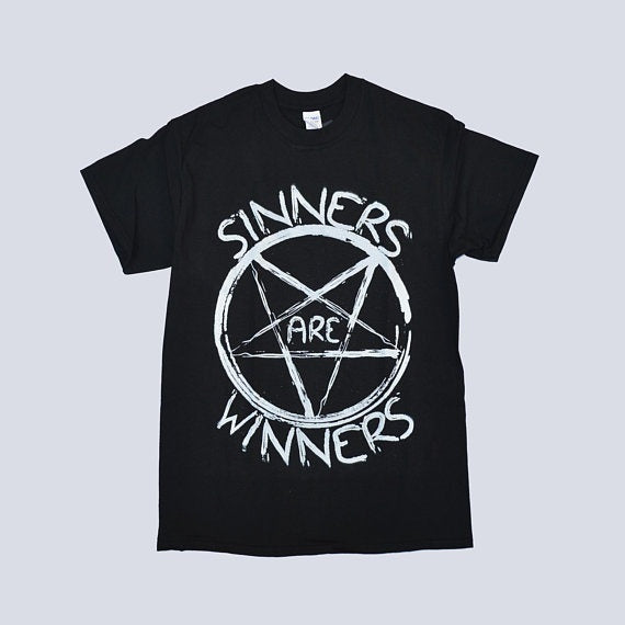 Sinners Are Winners T-shirt  - Cradle Of Goth