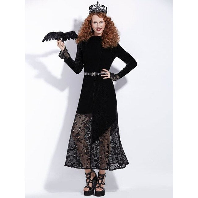 Crow Queen Dress Black / S - Cradle Of Goth