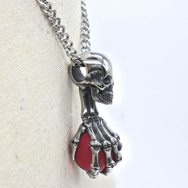 The Power of Death Necklace red - Cradle Of Goth