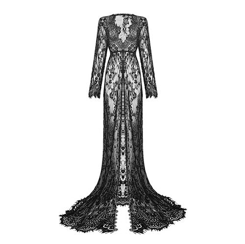 Morticia See-Through Dress  - Cradle Of Goth