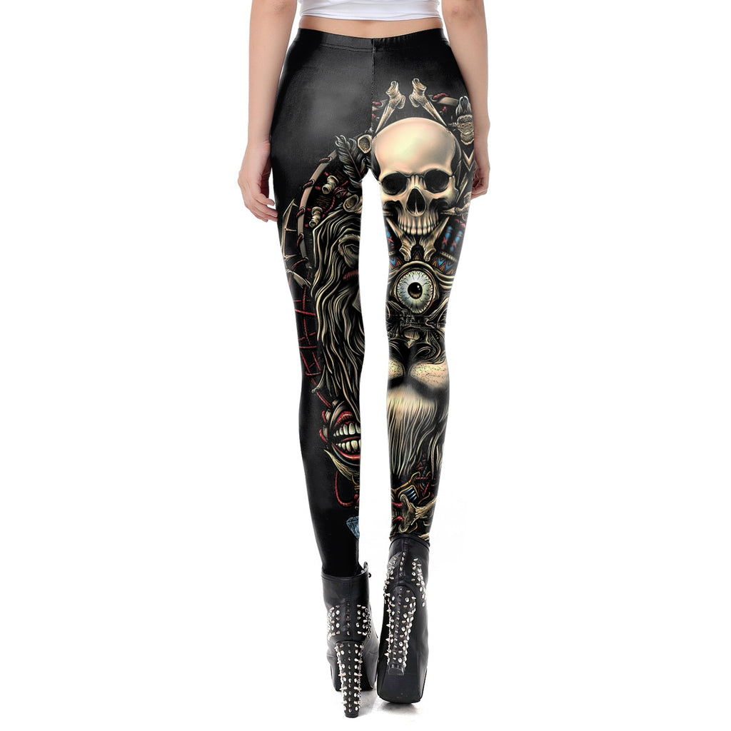Skull Leggings  - Cradle Of Goth
