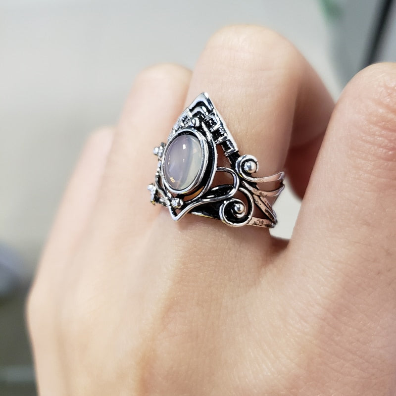 Moonstone Ring  - Cradle Of Goth