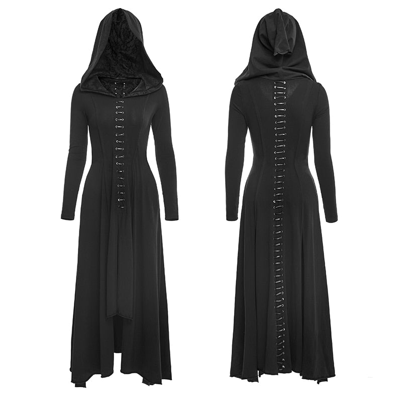Red Priestess Hand-Sewn Dress  - Cradle Of Goth