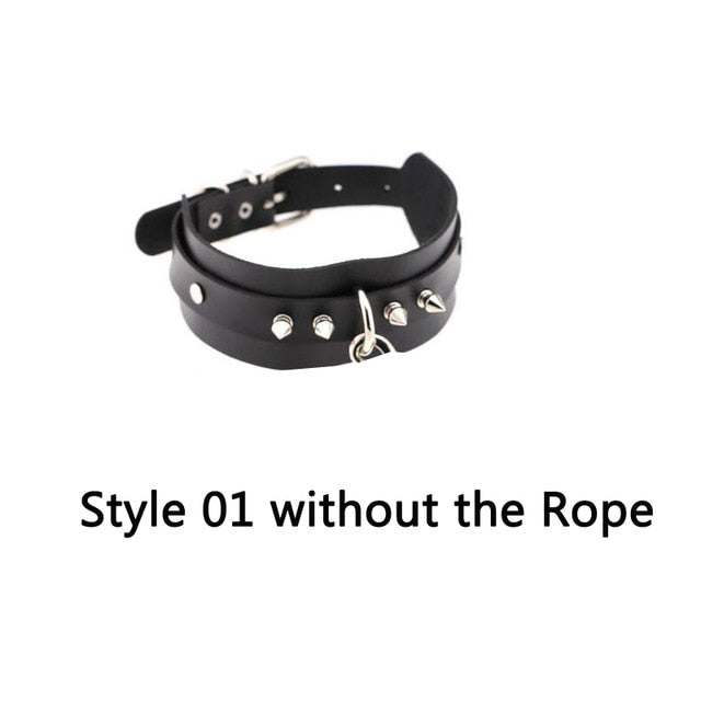 Freak on a Leash (Choker with Chain) Style01 without rope - Cradle Of Goth