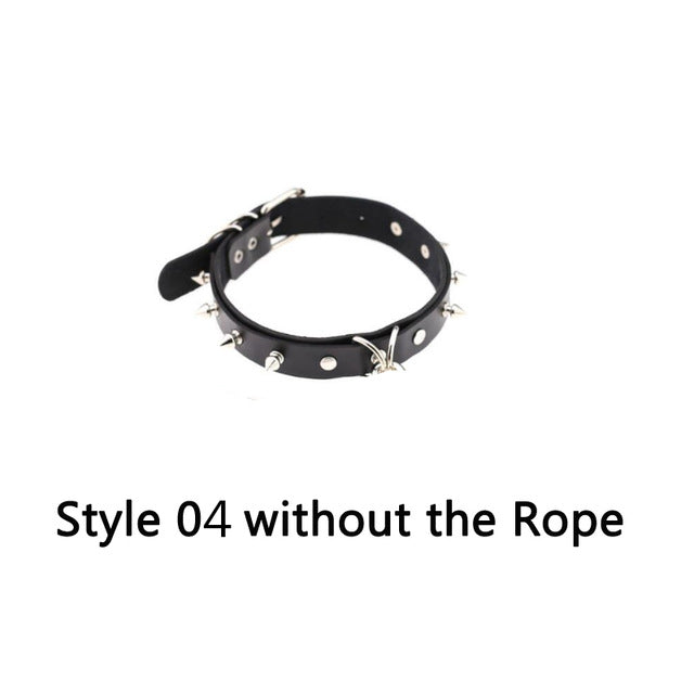 Freak on a Leash (Choker with Chain) Style04 without rope - Cradle Of Goth