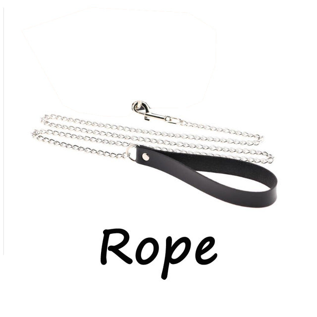 Freak on a Leash (Choker with Chain) Only Rope - Cradle Of Goth