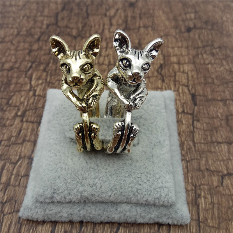 Sphynx Cat Ring  - Cradle Of Goth