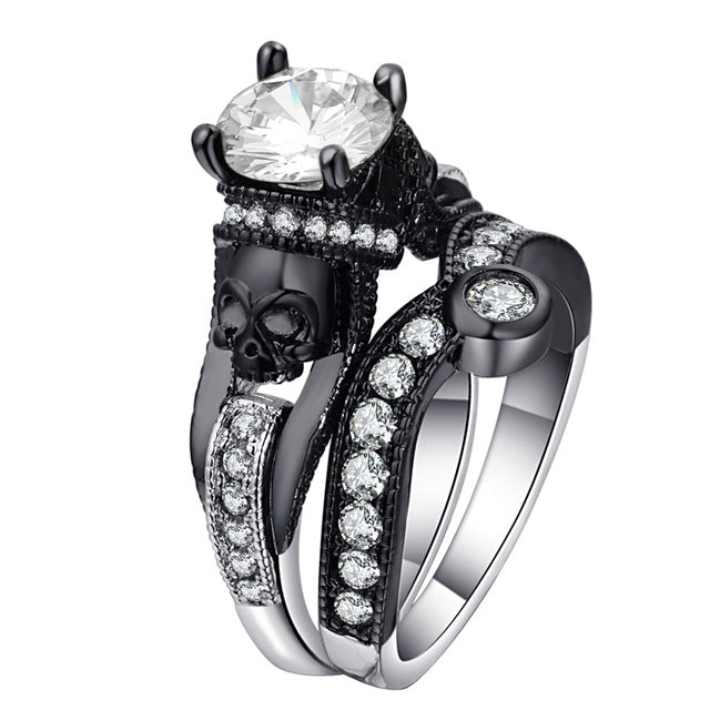 The King of Death Ring 11 / White - Cradle Of Goth