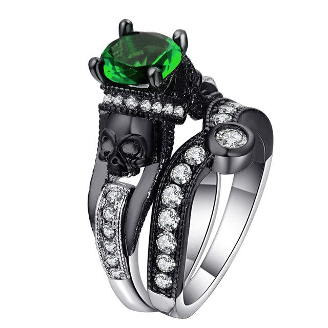 The King of Death Ring 10 / Green - Cradle Of Goth